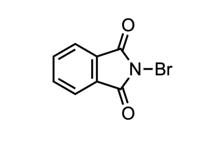 N-ブロモフタルイミドの構造式