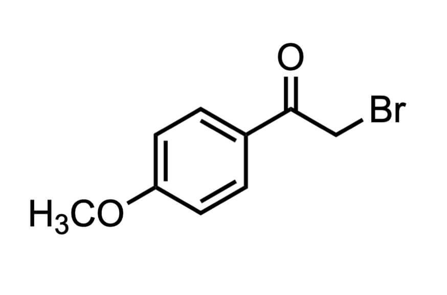 4'-メトキシフェナシルブロミドの構造式