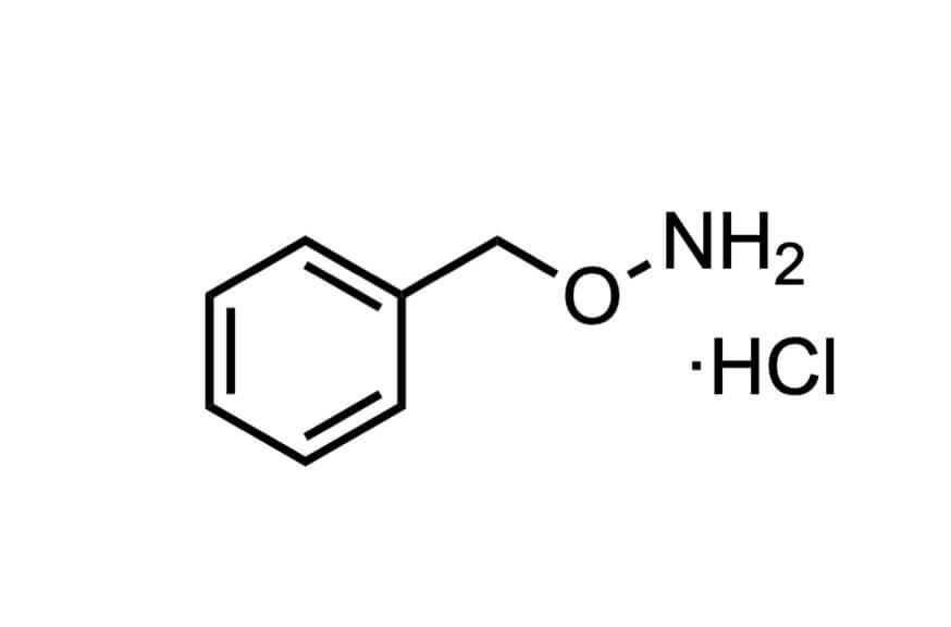 O-ベンジルヒドロキシルアミン塩酸塩の構造式