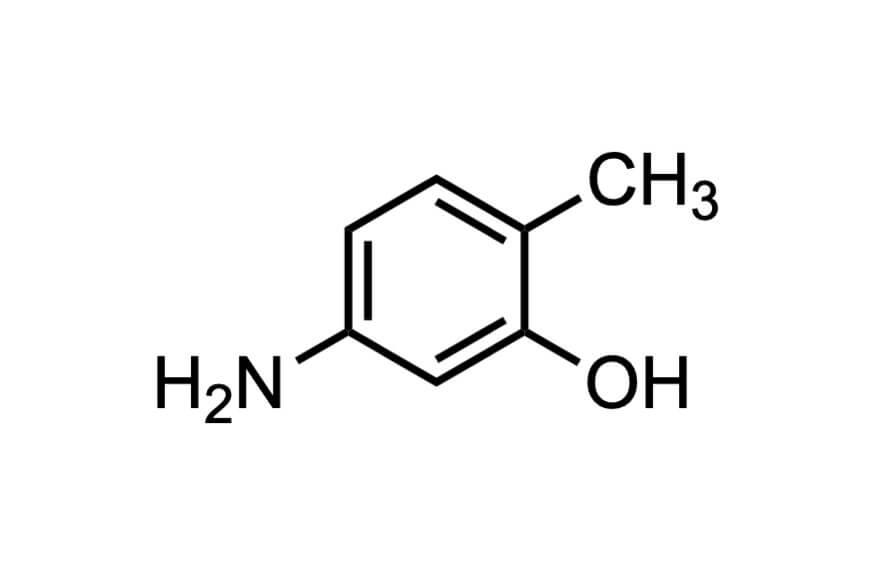 5-アミノ-o-クレゾールの構造式