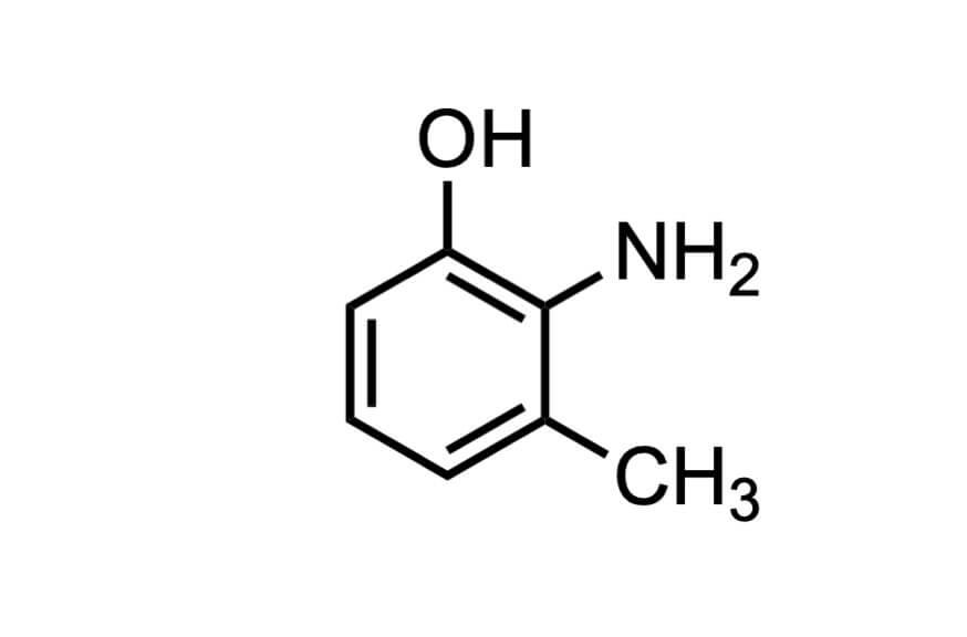 2-アミノ-m-クレゾールの構造式