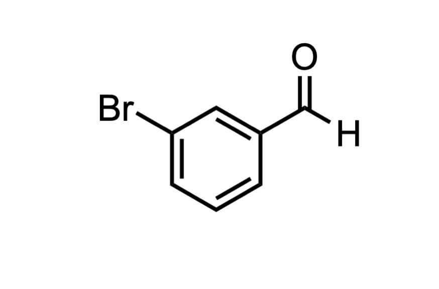 3-ブロモベンズアルデヒドの構造式
