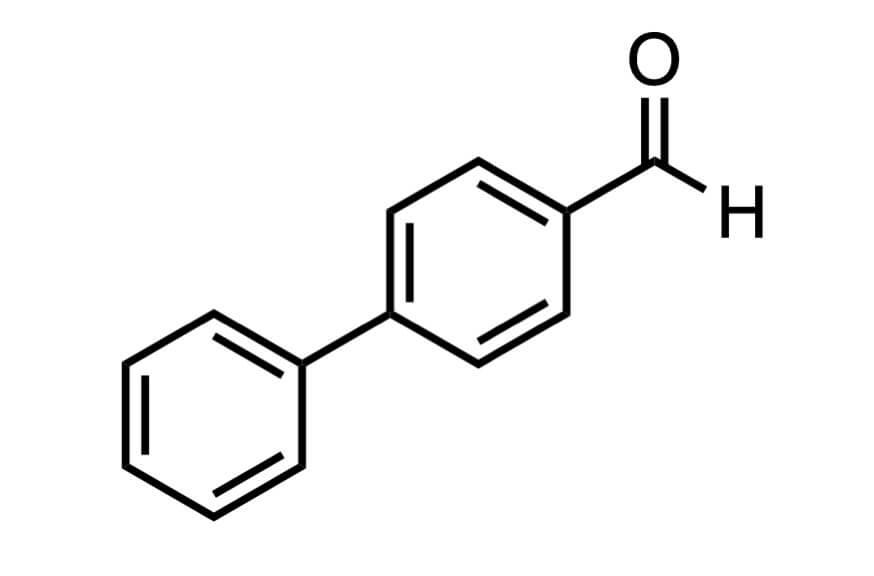 ビフェニル-4-カルボキシアルデヒドの構造式