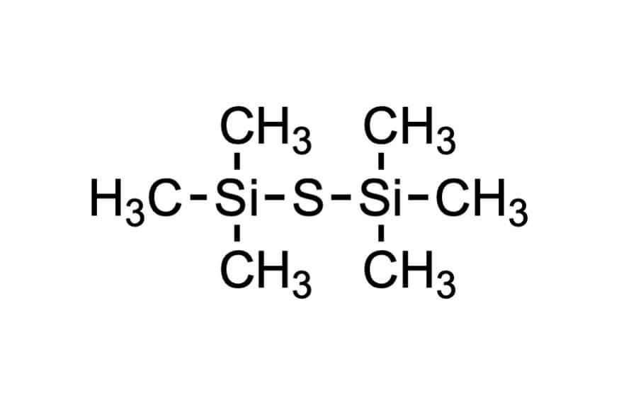 ビス(トリメチルシリル)スルフィドの構造式