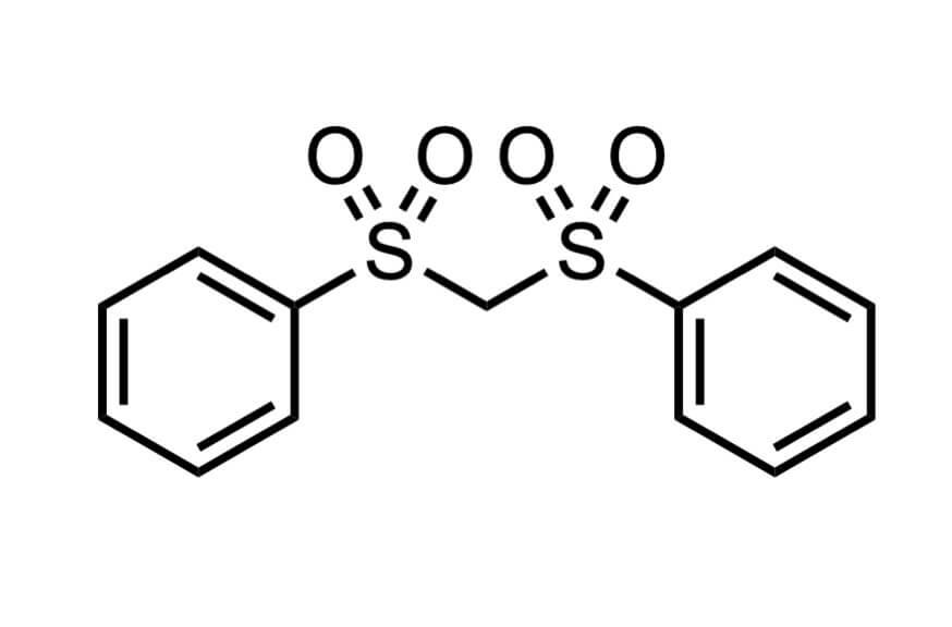 ビス(フェニルスルホニル)メタンの構造式