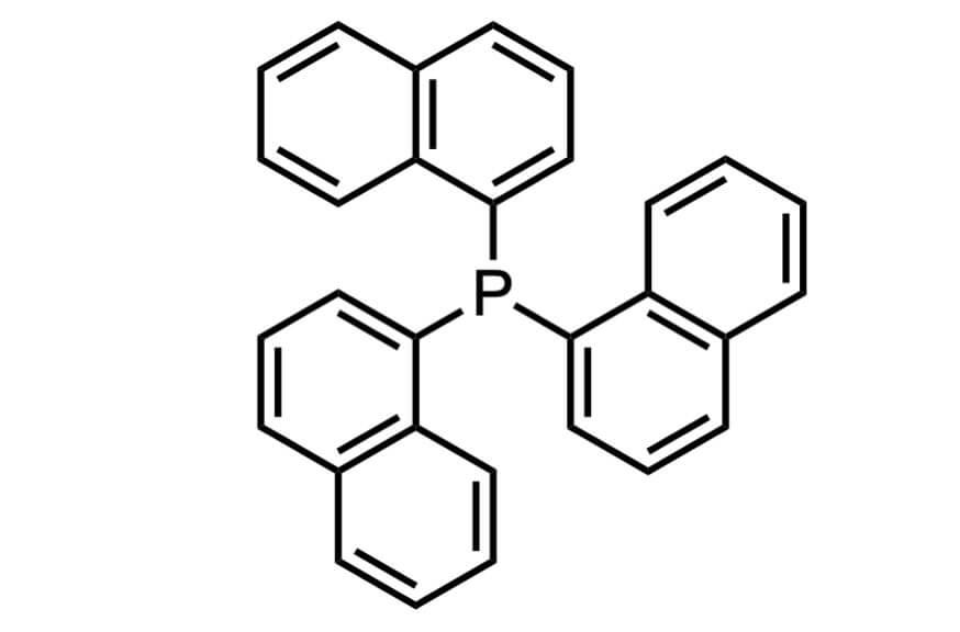 トリ(1-ナフチル)ホスフィンの構造式