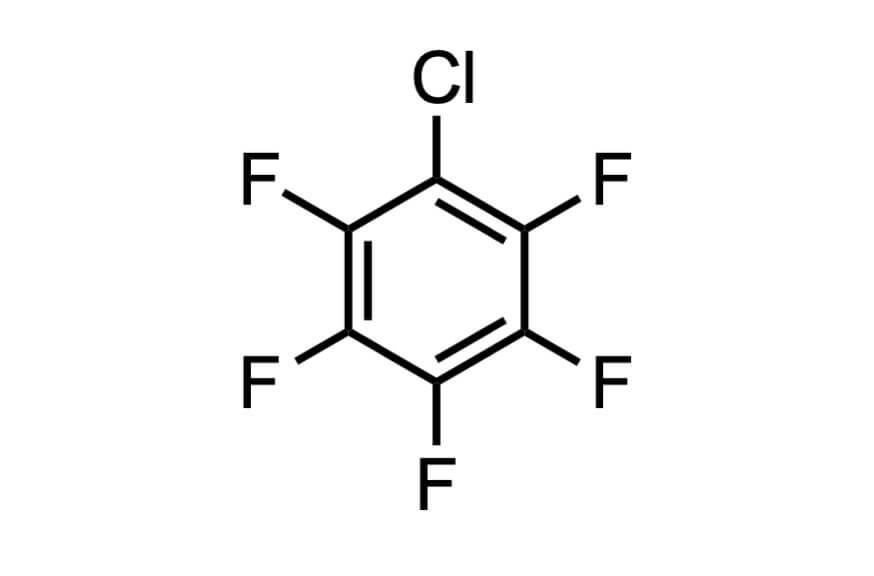 クロロペンタフルオロベンゼンの構造式
