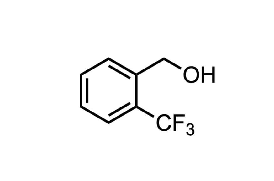 2-(トリフルオロメチル)ベンジルアルコールの構造式
