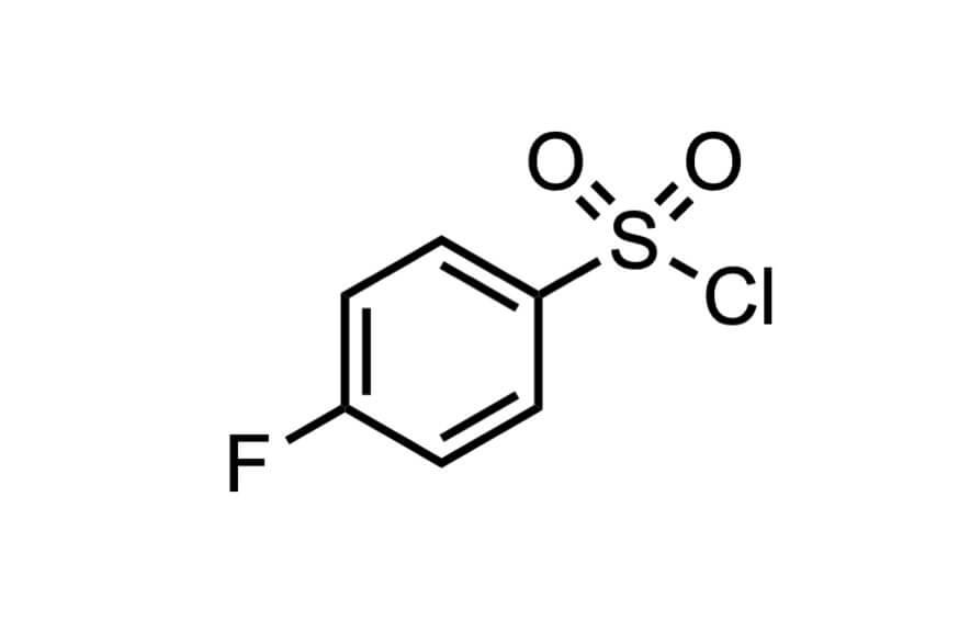 4-フルオロベンゼンスルホニルクロリドの構造式