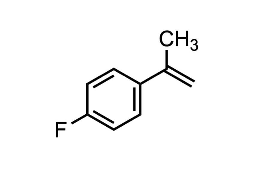 4-フルオロ-α-メチルスチレンの構造式
