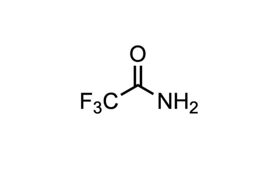 トリフルオロアセトアミドの構造式