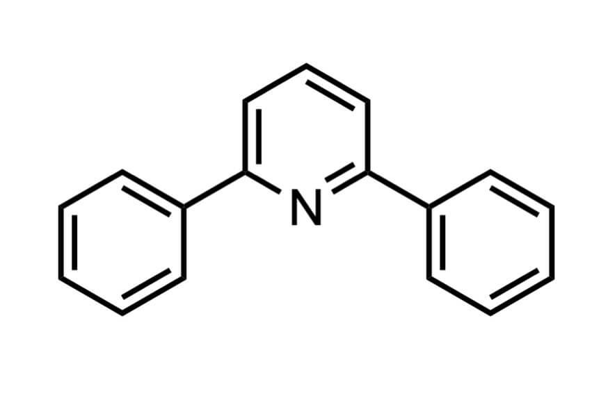 2,6-ジフェニルピリジンの構造式