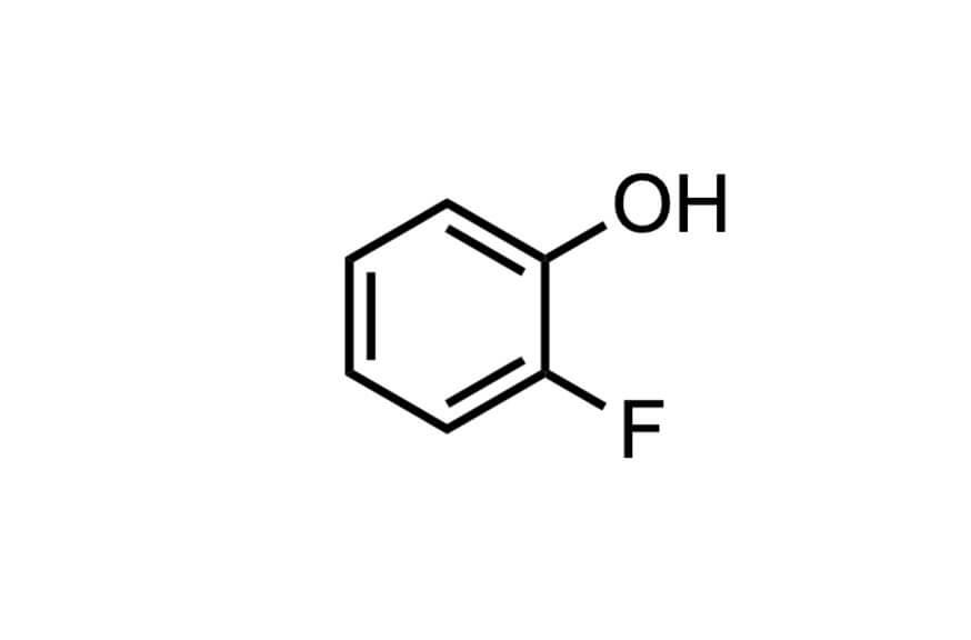 2-フルオロフェノールの構造式