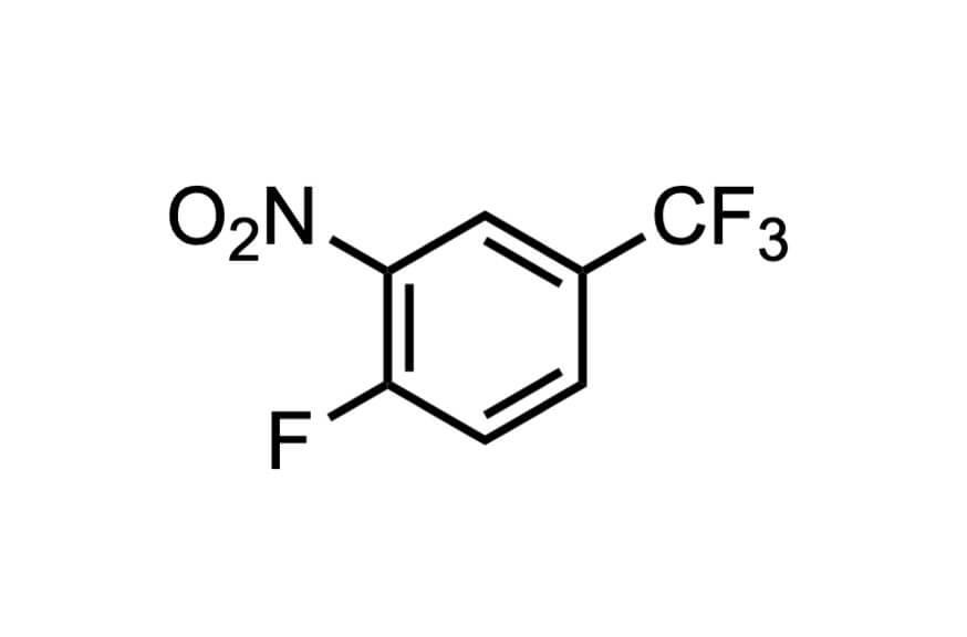 4-フルオロ-3-ニトロベンゾトリフルオリドの構造式