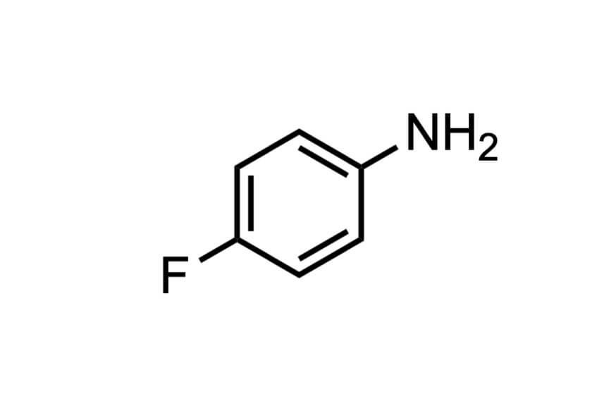 4-フルオロアニリンの構造式