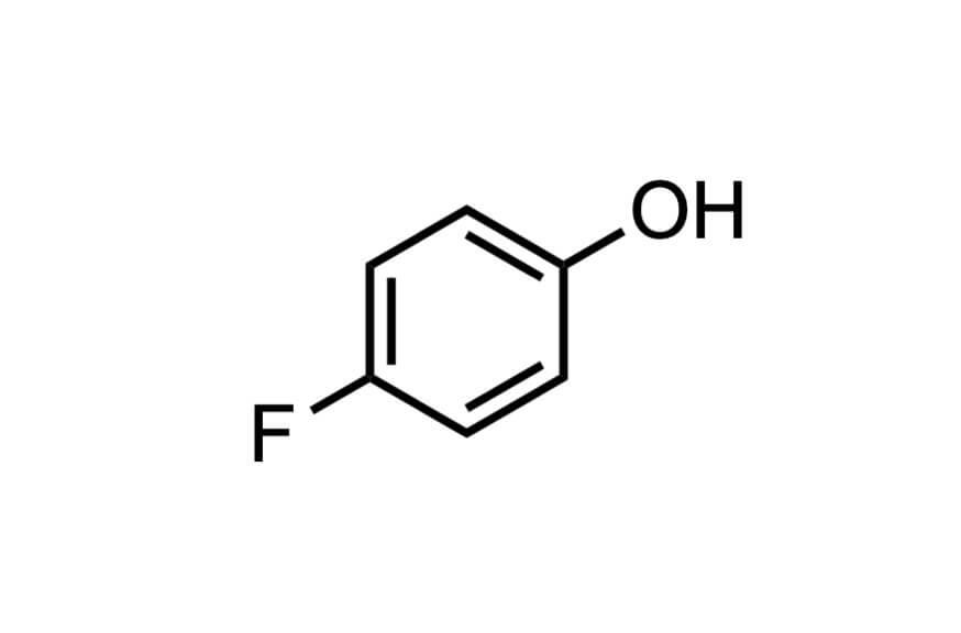 4-フルオロフェノールの構造式