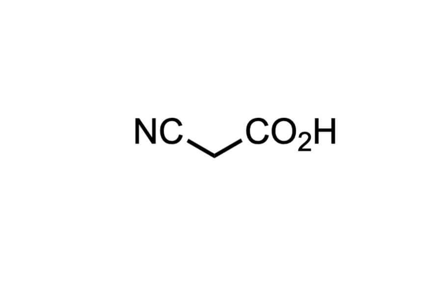 シアノ酢酸の構造式