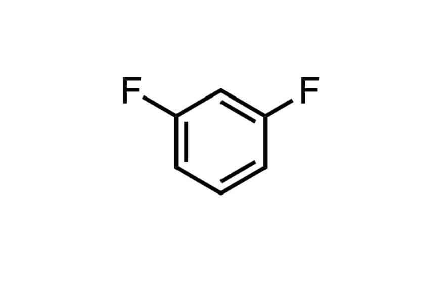 1,3-ジフルオロベンゼンの構造式