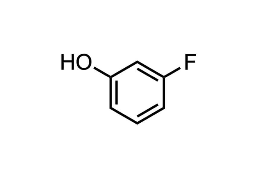 3-フルオロフェノールの構造式