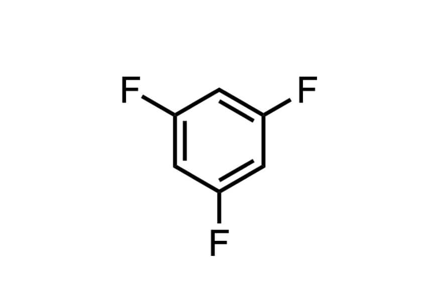 1,3,5-トリフルオロベンゼンの構造式