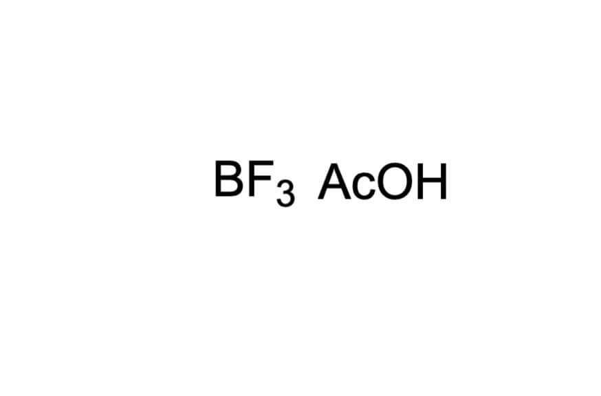 三ふっ化ほう素-酢酸錯体の構造式