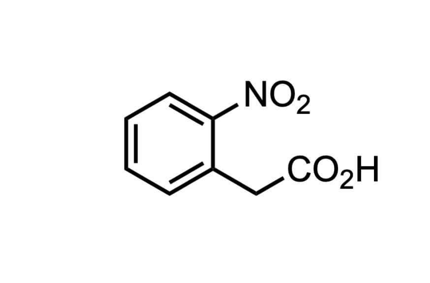 2-ニトロフェニル酢酸の構造式