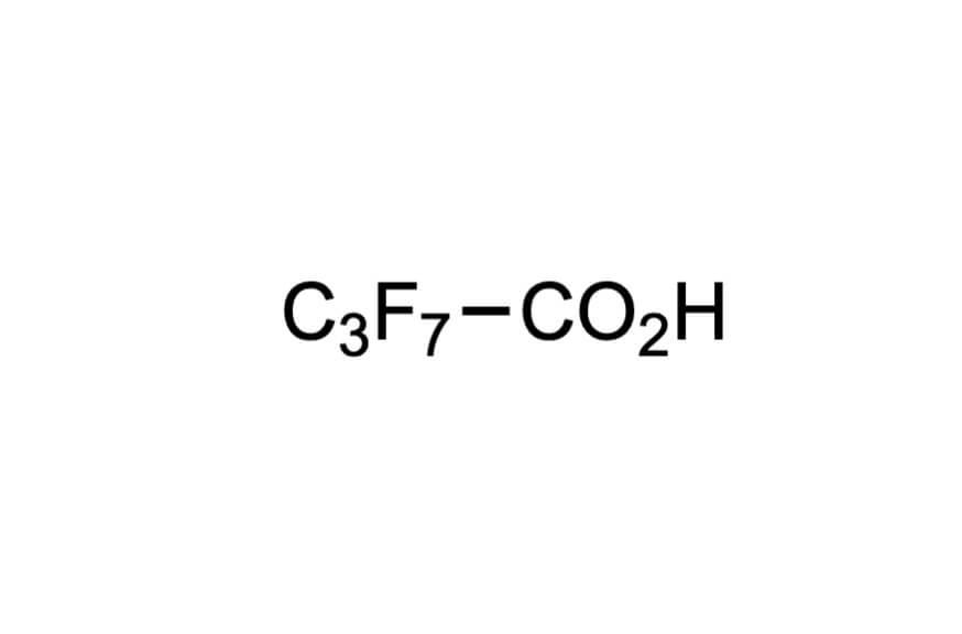 ヘプタフルオロ酪酸の構造式