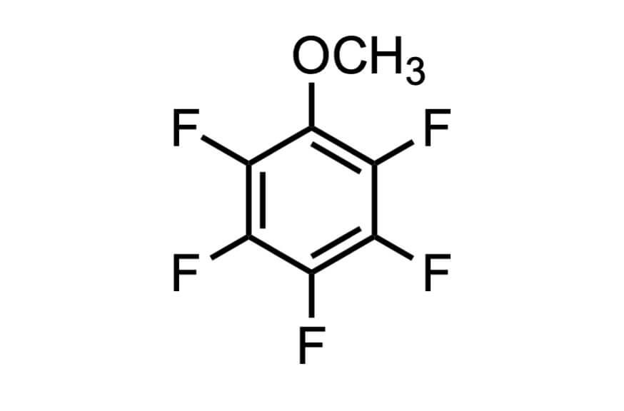 ペンタフルオロアニソールの構造式