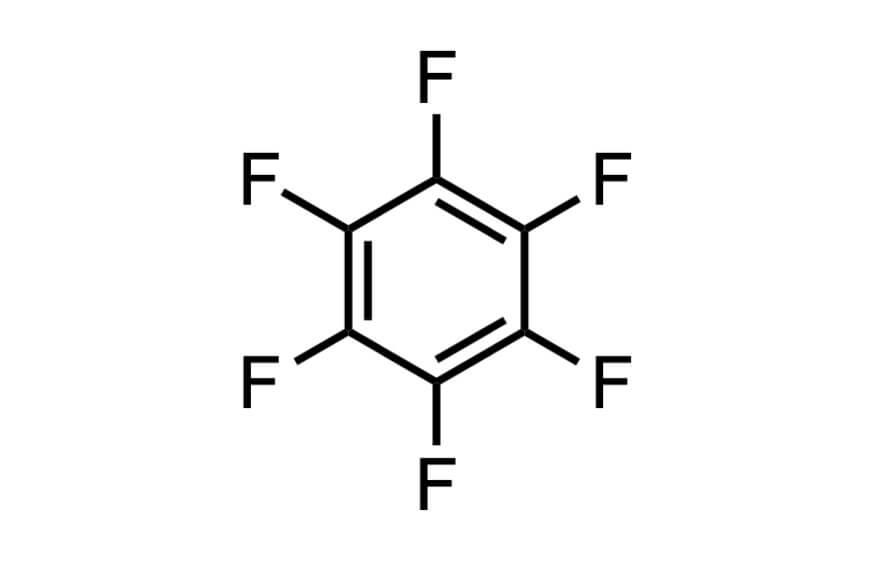ヘキサフルオロベンゼンの構造式