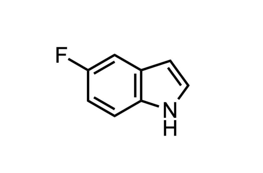 5-フルオロインドールの構造式