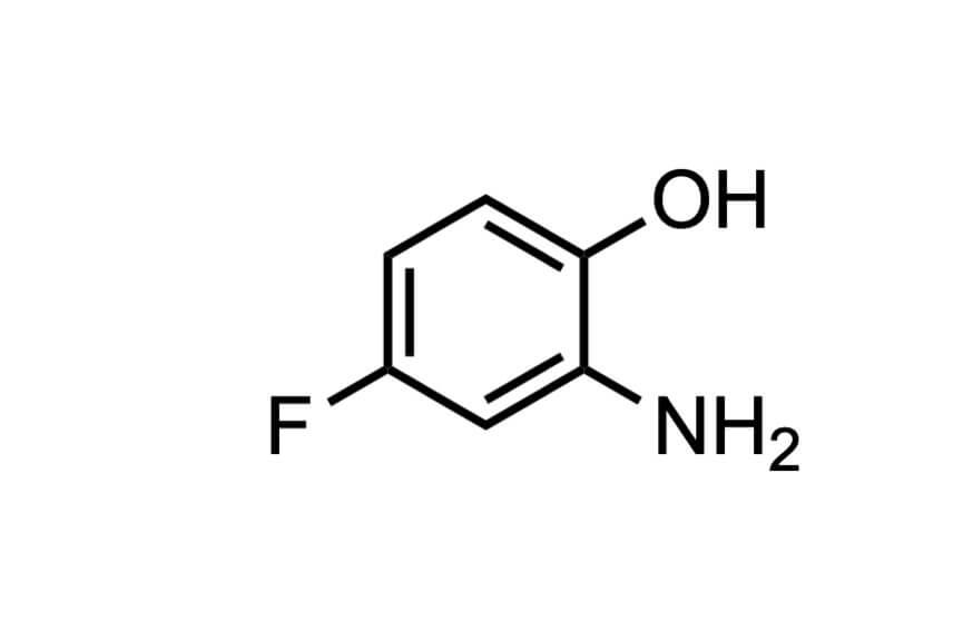 2-アミノ-4-フルオロフェノールの構造式