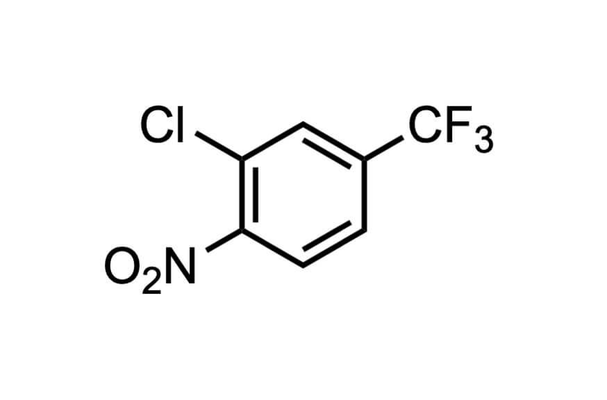 1-クロロ-2-ニトロ-5-(トリフルオロメチル)ベンゼンの構造式