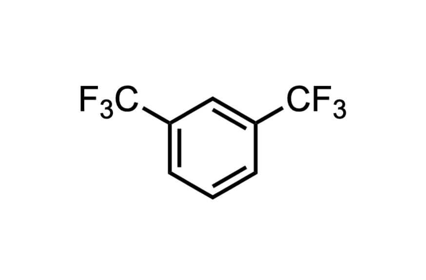 1,3-ビス(トリフルオロメチル)ベンゼンの構造式
