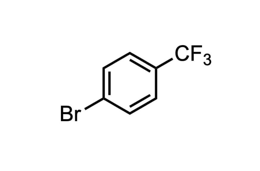 4-ブロモベンゾトリフルオリドの構造式
