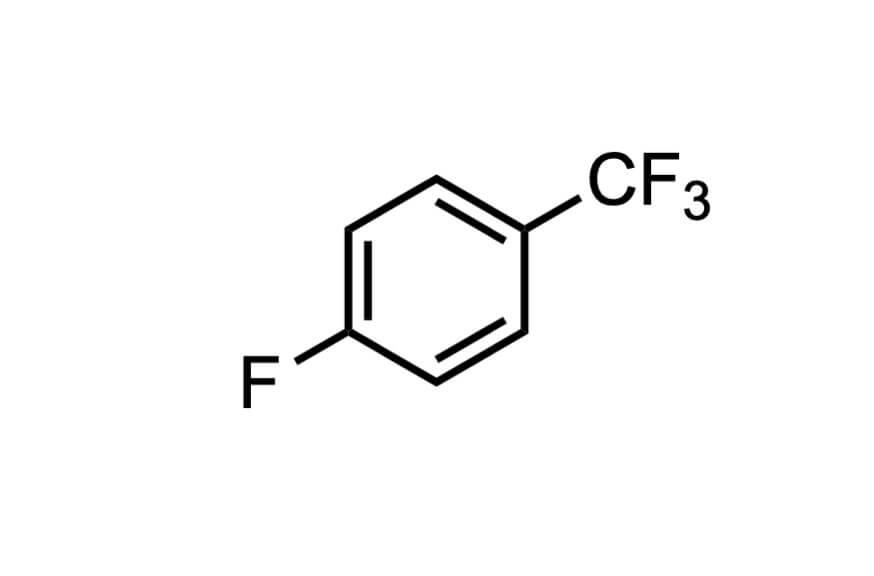 4-フルオロベンゾトリフルオリドの構造式