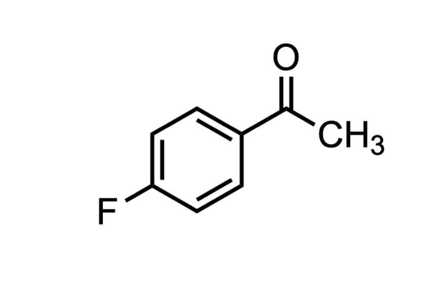 4'-フルオロアセトフェノンの構造式