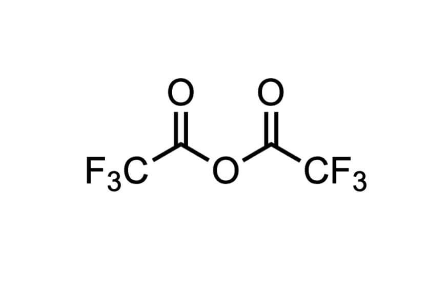 トリフルオロ酢酸無水物の構造式