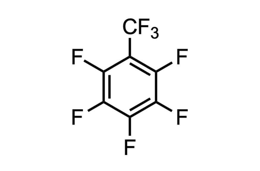 オクタフルオロトルエンの構造式
