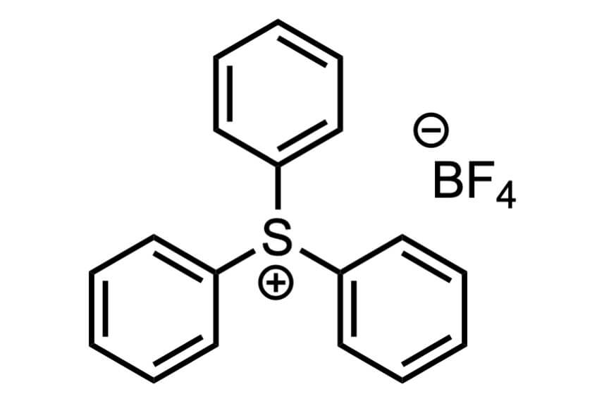 トリフェニルスルホニウムテトラフルオロボラートの構造式