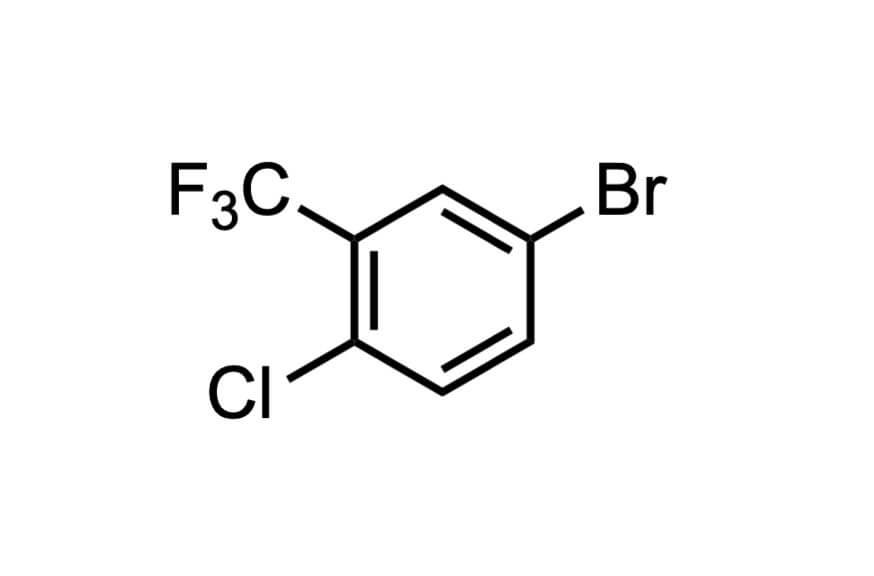5-ブロモ-2-クロロベンゾトリフルオリドの構造式