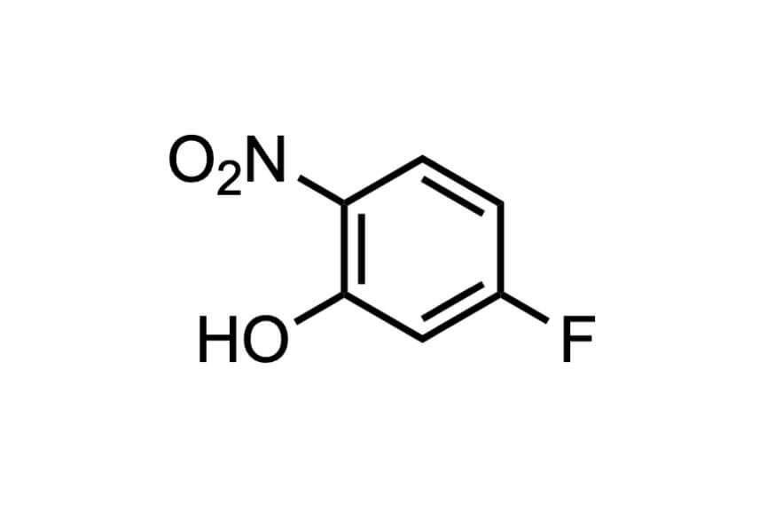 5-フルオロ-2-ニトロフェノールの構造式