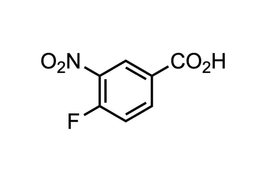 4-フルオロ-3-ニトロ安息香酸の構造式