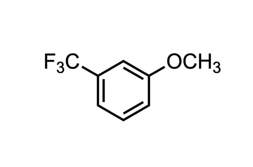 3-メトキシベンゾトリフルオリドの構造式