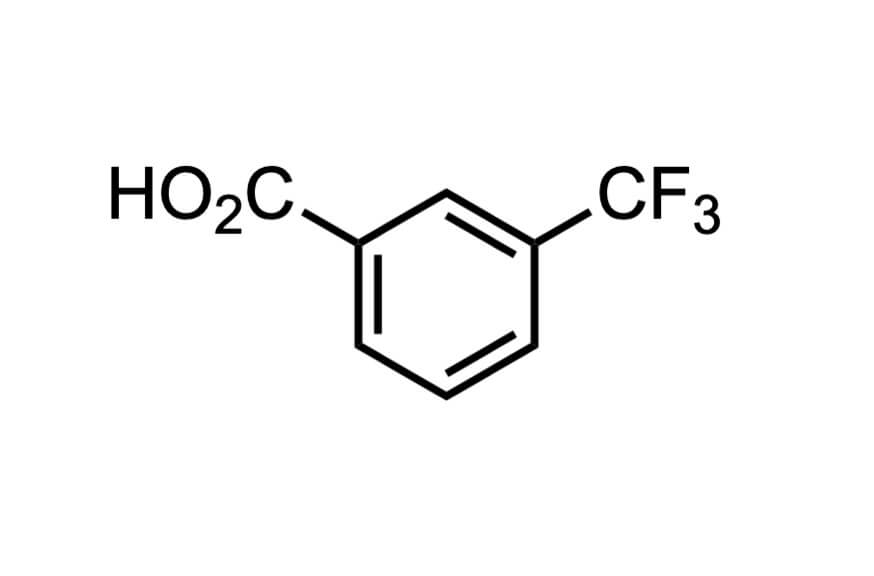 3-(トリフルオロメチル)安息香酸の構造式