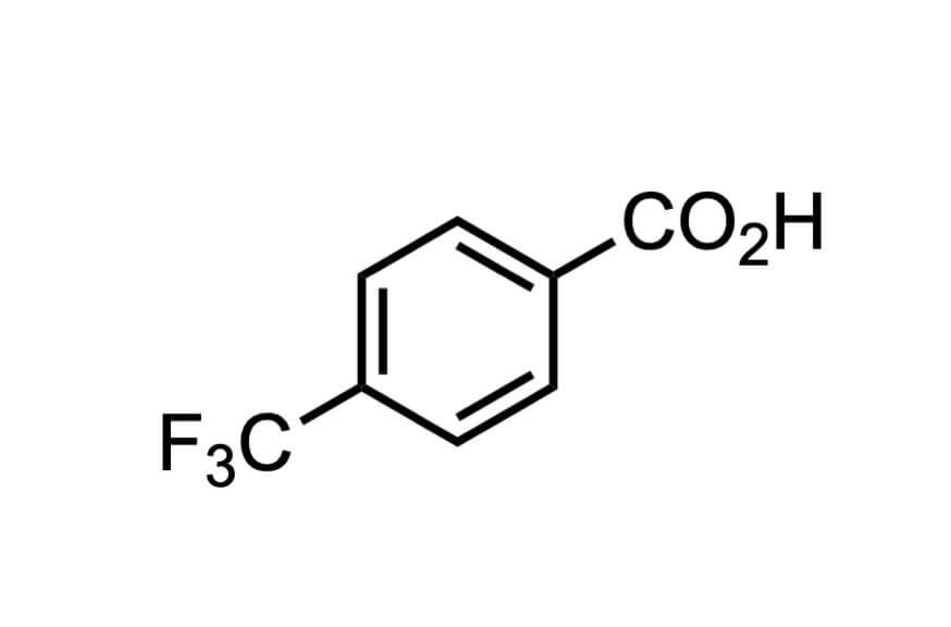 4-(トリフルオロメチル)安息香酸の構造式
