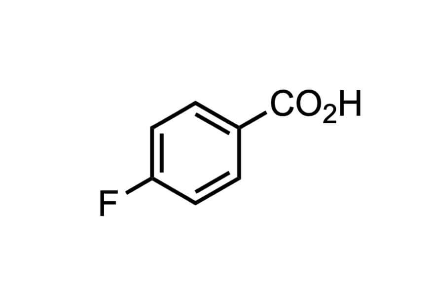 4-フルオロ安息香酸の構造式