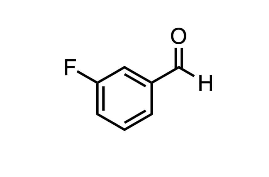 3-フルオロベンズアルデヒドの構造式
