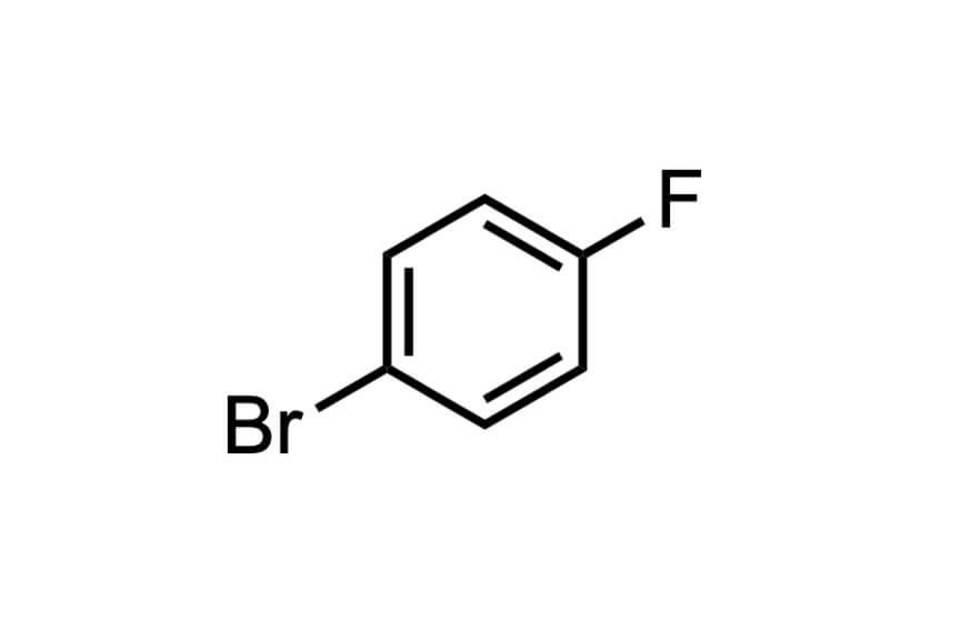 4-ブロモフルオロベンゼンの構造式