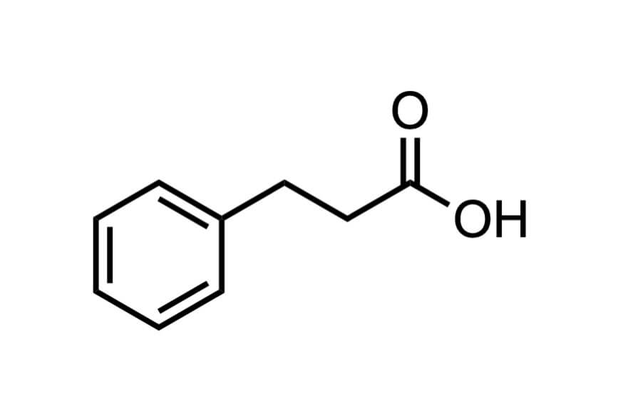 3-フェニルプロピオン酸の構造式