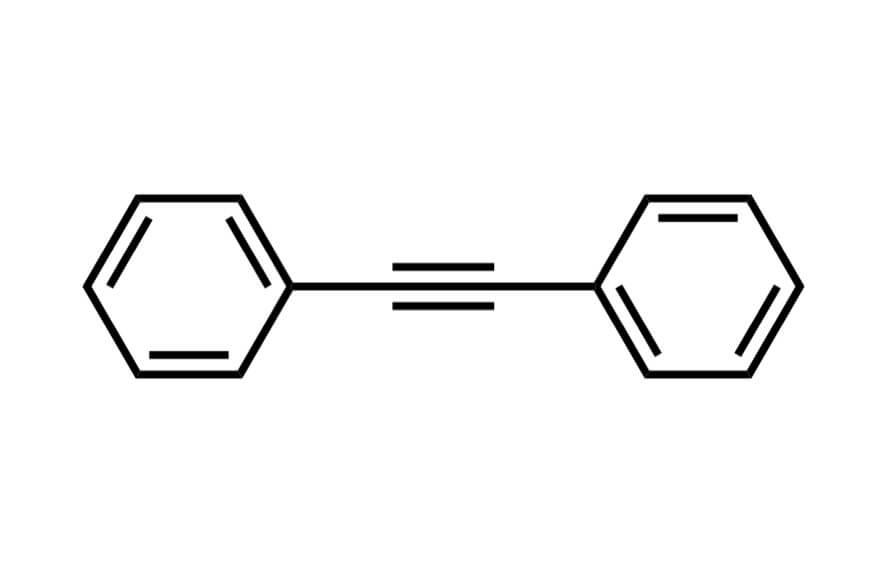 ジフェニルアセチレンの構造式